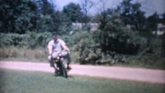 American Soldier On Old Motorcycle-1964 Vintage 8mm film Stock Footage
