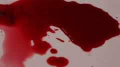 Blood after accident Stock Footage