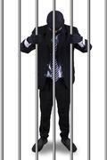 Bad entrepreneur in the prison Stock Photos