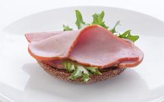 Sandwich with pork loin - stock photo