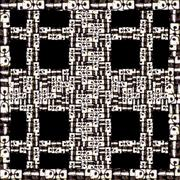 Cells Motif Ethnic Geometric Pattern Stock Illustration