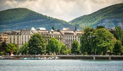 view of Geneva - stock photo