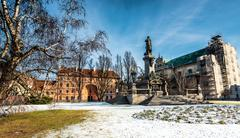 Monument  Polish poet  Adam Mickiewicz - stock photo