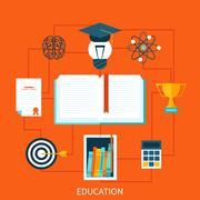 Consept of educational set tools - stock illustration