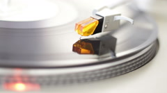 Turntable with Red Light Stock Footage