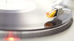 Turntable White Start Stock Footage