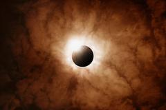Full sun eclipse Kuvituskuvat