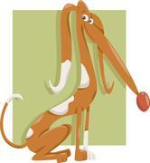 Stock Illustration of cute dog cartoon illustration