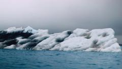 Icebergs on the Jokulsarlon Glacier Lagoon in Iceland Stock Footage