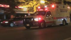 Ambulance With Sirens Stock Footage
