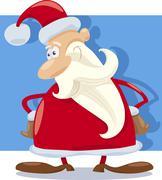 Stock Illustration of santa claus character cartoon