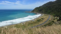 Kaikoura Beach Road Stock Footage