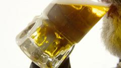 Beer silhouette beard close-up desire - stock footage