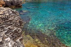 Adriatic Sea coastline in Croatia - stock photo
