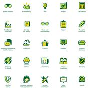 Manufacturing and distribution icon set Stock Illustration