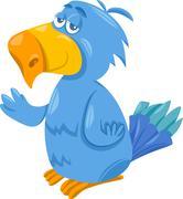 Stock Illustration of funny parrot cartoon illustration