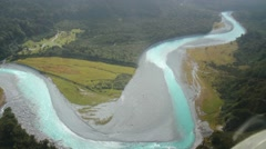 Glacier melt from above Stock Footage