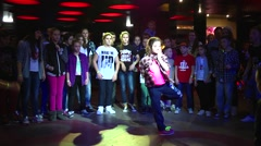 HIP-HOP battle free style dancing kids - stock footage