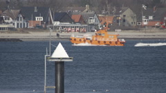 Pilot Boat in Kiel Germany Stock Footage