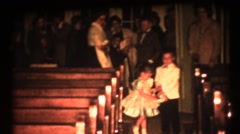 Vintage family, wedding day and rose petals - stock footage