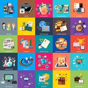 Stock Illustration of Icons set banners for business