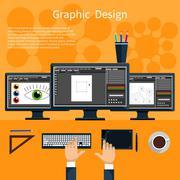 Stock Illustration of Graphic design and designer tools concept