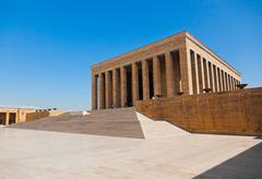 Mustafa Kemal Ataturk mausoleum in Ankara Turkey - stock photo