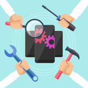 Mobile service concept Stock Illustration