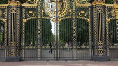 Detail of Canada Gate - stock footage