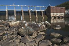 High Rock Dam - stock photo