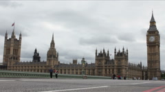 Westminster and Big Ben Time Lapse - stock footage