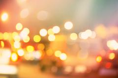 Blurred urban traffic background scene - stock photo