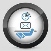Postal fast service - stock illustration