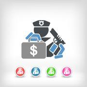 Policeman icon Stock Illustration