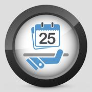 Date planner icon - stock illustration