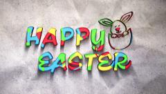 Happy Easter Bunny Color Stock Footage