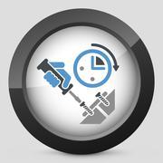 Fast assistance - stock illustration