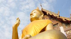 Giant Buddha, is a sacred right to be respected - stock photo