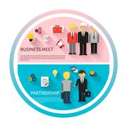 Concept of business meeting, teamwork, partnership Stock Illustration