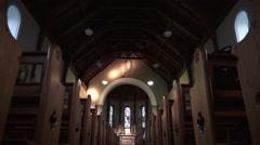 Church Aisle Stock Footage