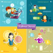 Customer service concept - stock illustration