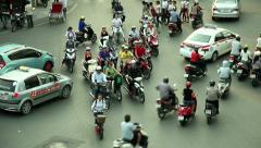 HANOI TRAFFIC - VIETNAM Stock Footage