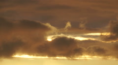 Moving clouds at sunset Stock Footage