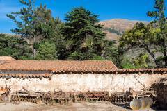 Historic Colonial Hacienda in Peru - stock photo