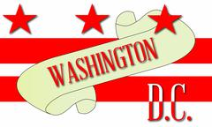 Washington DC Scroll - stock illustration