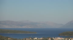Island landscape, Holiday view. Mediterranean skyline. Marine bay. Harbor view. Stock Footage