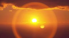 Sunset on the sea Stock Footage