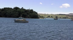 Mangonui historic fishing village in Doubtless Bay Northland New Zealand Stock Footage