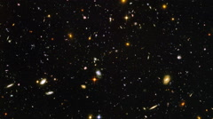 General view of a section of space in case of the very strong increase Stock Footage