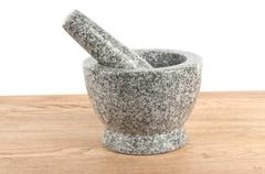 Stone mortar - stock photo